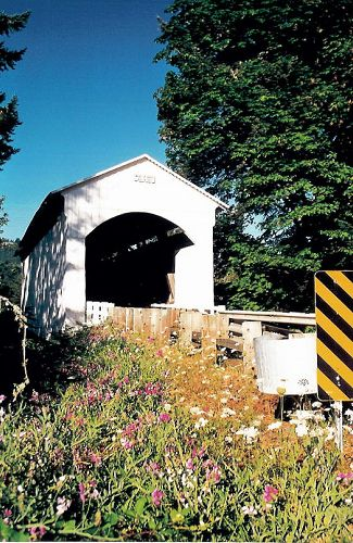 Mosby Creek Layng Covered Bridge Lane County Or